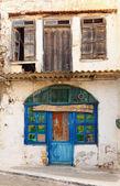 Cafe ouzeri in Panormo, Crete — Stock Photo