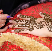 Henna art — Stock Photo