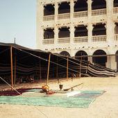 Arabští beduíni tábor — Stock fotografie