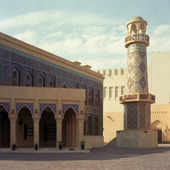 Qatar mosque — Stock Photo
