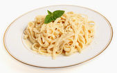 A plate of Fettuccine all'Alfredo — Stock Photo
