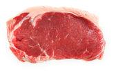 Kalvkött ryggbiff isolerade — Stockfoto