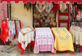 Burano textile shop — Stock Photo