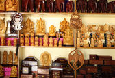 Indian handicraft display — Stock Photo