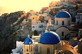 Greek sunset on Santorini — Stock Photo