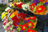 Flower stall side view — Stock Photo