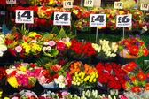 English flower stall — Stock Photo