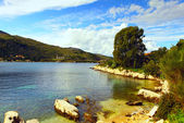 Sheltered cove, Kassiopi, Corfu — Stock Photo