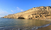 Matala beach afternoon — Stock Photo