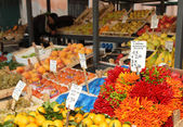 Rialto market vegetable stall — Stock Photo