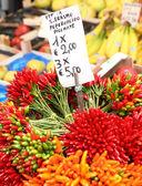 Chilis in the Rialto Market — Stock Photo