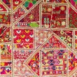 Indian patchwork background — Stock Photo