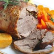 Roast boneless lamb — Stock Photo