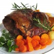 Joint of lamb on plate — Stockfoto