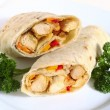 Chicken fajita close-up - Stock Photo