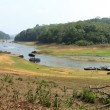High-definition panoramic view of Periyar Lake and Tiger Reserve - Stock Photo