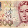 Five hundred deutsche mark note - Stock Photo