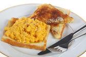 Desayuno huevos revueltos — Foto de Stock
