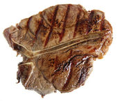 Grilled T-bone from above — Stock Photo