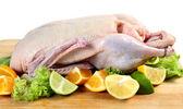 Ruwe eend met citrusvruchten — Stockfoto