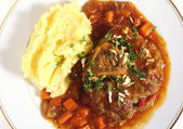 Ossobuco from above — Stock Photo