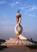 Qatar's Oryx monument — Stock Photo