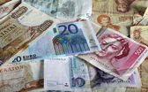 Euro and legacy currencies — Stock Photo