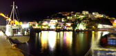 Agia Galini harbour at night — Stock Photo