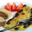 Omlette with mushrooms — Stock Photo