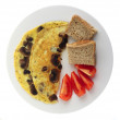 Mushroom omlette from above — Stock Photo