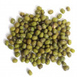 Mung beans from above over white — Stock Photo #7051589
