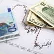 Chart of an active period of trading on the Dollar-Euro markets — Stock Photo #7051862