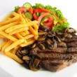 Ribeye steak meal - Stock Photo
