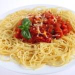 Spaghetti al Pomodoro pasta — Stock Photo