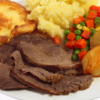 Roast beef meal angled — Stock Photo #7053510