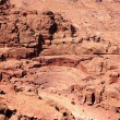 Roman amphitheatre at Petra - Stock Photo