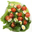 Quail egg salad — Stock Photo