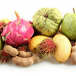 Tropical fruits from the side — Stock Photo