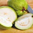 Guava fruit cut open — Stock Photo