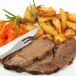 Roast lamb meal — Foto de Stock