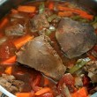 Lambs liver casserole vertical - Stock Photo