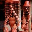 Handicraft pottery wind chimes - Stock Photo