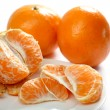 Tangerine segments on plate — Stock Photo