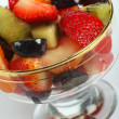 Fruit salad angled — Stock Photo
