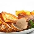 Stock Photo: Roast beef horizontal