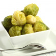 Bowl of brussels sprouts — Stock Photo