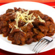 Chili con carne with beans - Foto Stock