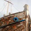 Abandoned wooden ship - Stock Photo