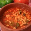 White bean soup in serving bowl — Stock Photo #7055097