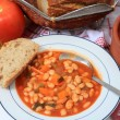 Greek white bean soup horizontal — Stock Photo #7055099
